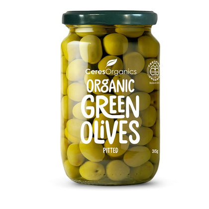 CERES ORGANICS Ceres Organic Green Olives Pitted  320g