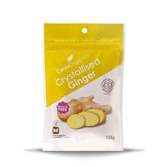Ceres Organic Crystallised Ginger  125g