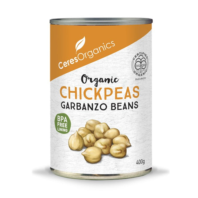 Ceres Organic Chickpeas/Garbanzo Beans  (can)  400g