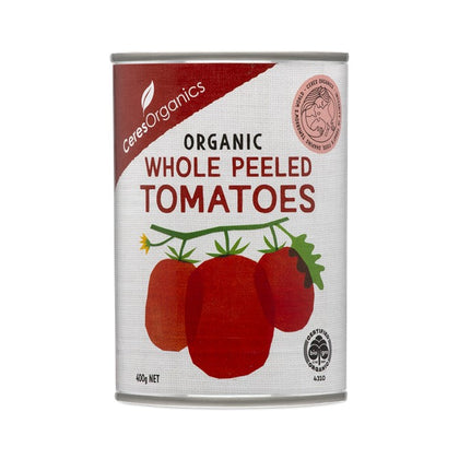 CERES ORGANICS Ceres Organic Whole Peeled Tomatoes (can)  400g
