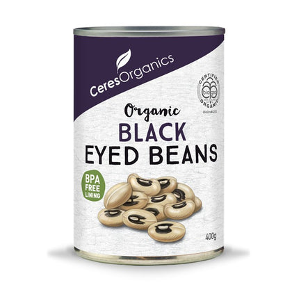 CERES ORGANICS Ceres Organic Black Eyed Beans (can)  400g