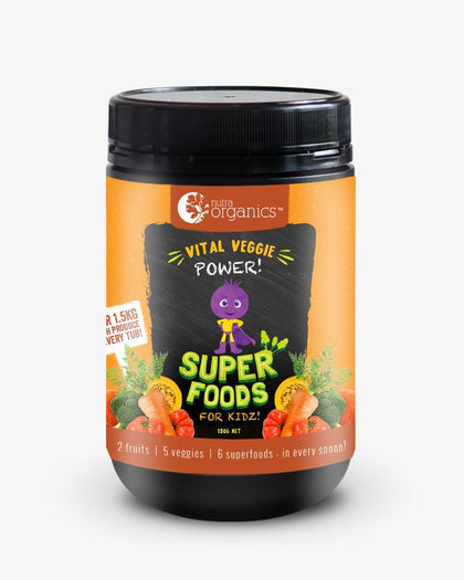 NUTRA ORGANICS Superfoods For Kidz Vital Veggie Powder  150g