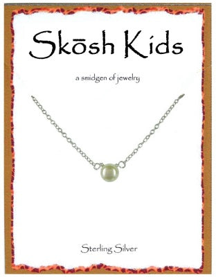 Silver Kids Pearl Necklace