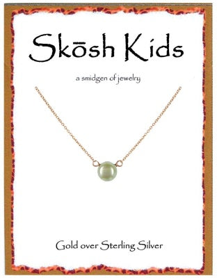 Gold Kids Pearl Necklace