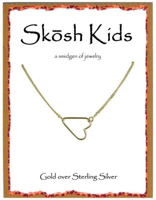 Gold Kids Heart Necklace