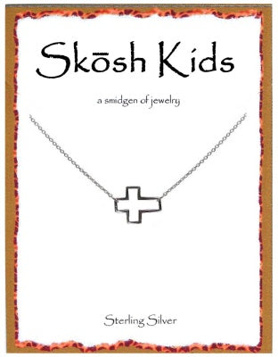 Silver Kids Cross Necklace