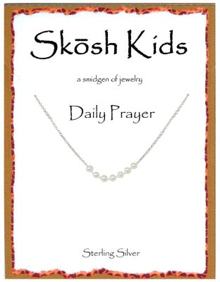 Silver Kids Daily Prayer Necklace