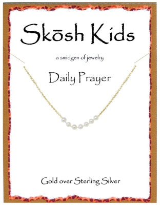 Gold Kids Daily Prayer Necklace