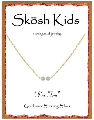 Gold Kids I'm Two Necklace