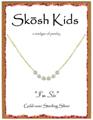 Gold Kids I'm Six Necklace