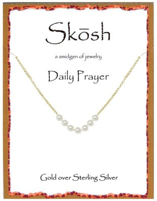 Gold Daily Prayer Necklace