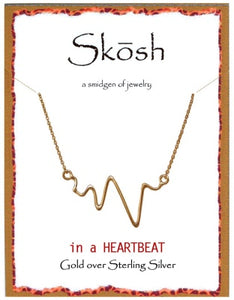 Gold In a Heartbeat Necklace