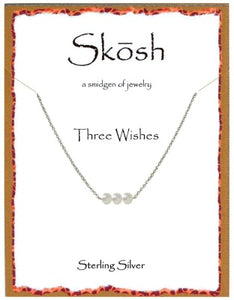 Silver Three Wishes Necklace
