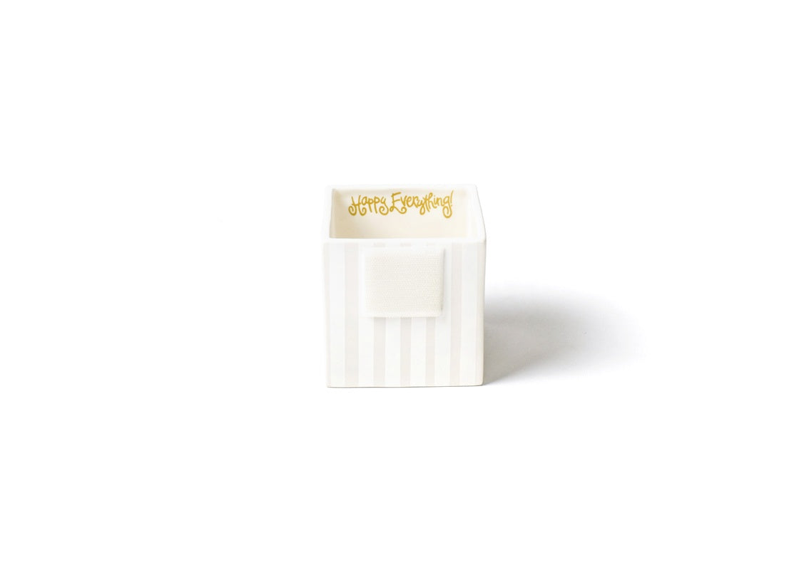 White Stripe Small Mini Nesting Cube