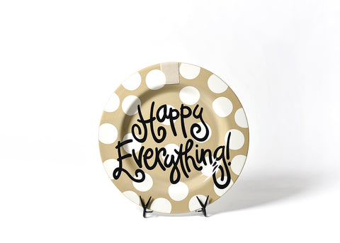 Neutral Dot Big Happy Everything! Round Platter