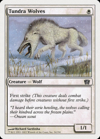 Tundra Wolves [Eighth Edition] | Dragons Den Cards & Games