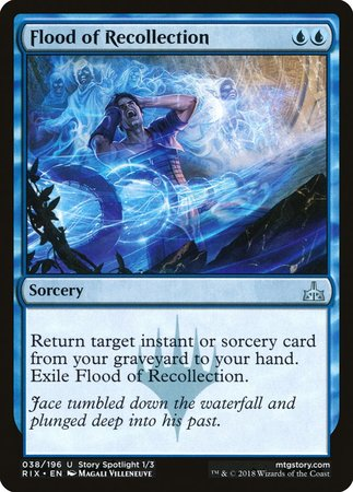 Flood of Recollection [Rivals of Ixalan] | Dragons Den Cards & Games