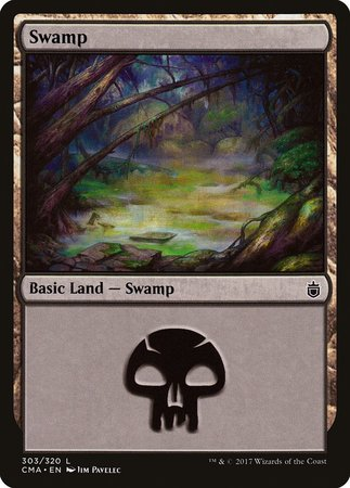 Swamp (303) [Commander Anthology] | Dragons Den Cards & Games