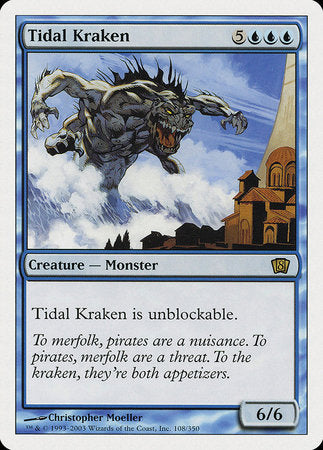 Tidal Kraken [Eighth Edition] | Dragons Den Cards & Games