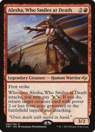 Alesha, Who Smiles at Death [Fate Reforged] | Dragons Den Cards & Games
