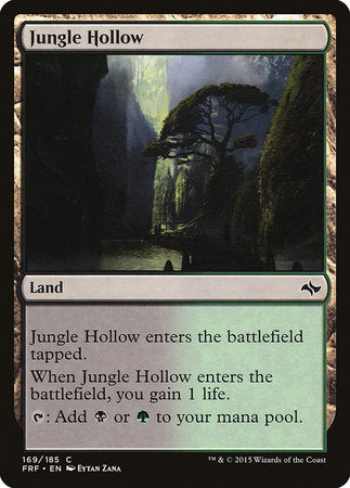 Jungle Hollow [Fate Reforged] | Dragons Den Cards & Games