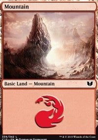 Mountain (336) [Commander 2015] | Dragons Den Cards & Games