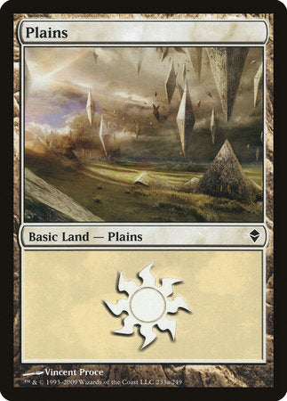 Plains (233a) [Zendikar] | Dragons Den Cards & Games