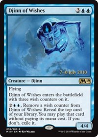 Djinn of Wishes [Core Set 2019 Promos] | Dragons Den Cards & Games