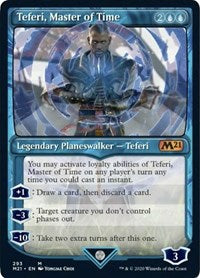 Teferi, Master of Time (Showcase) (293) [Core Set 2021] | Dragons Den Cards & Games