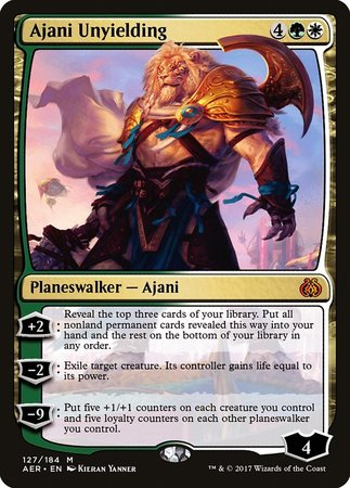 Ajani Unyielding [Aether Revolt] | Dragons Den Cards & Games