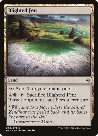 Blighted Fen [Battle for Zendikar] | Dragons Den Cards & Games