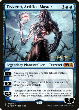 Tezzeret, Artifice Master [Core Set 2019 Promos] | Dragons Den Cards & Games