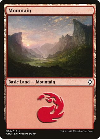 Mountain (301) [Commander Anthology Volume II] | Dragons Den Cards & Games