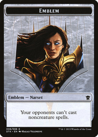 Emblem - Narset Transcendent [Dragons of Tarkir Tokens] | Dragons Den Cards & Games