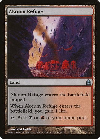 Akoum Refuge [Commander 2011] | Dragons Den Cards & Games