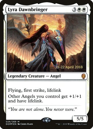 Lyra Dawnbringer [Dominaria Promos] | Dragons Den Cards & Games