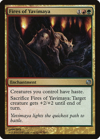 Fires of Yavimaya [Duel Decks: Heroes vs. Monsters] | Dragons Den Cards & Games