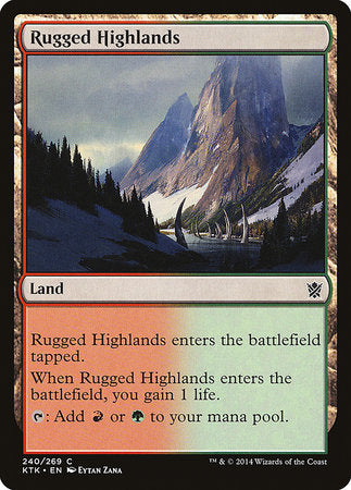 Rugged Highlands [Khans of Tarkir] | Dragons Den Cards & Games