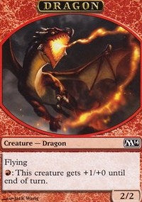 Dragon Token [Magic 2014 Tokens] | Dragons Den Cards & Games
