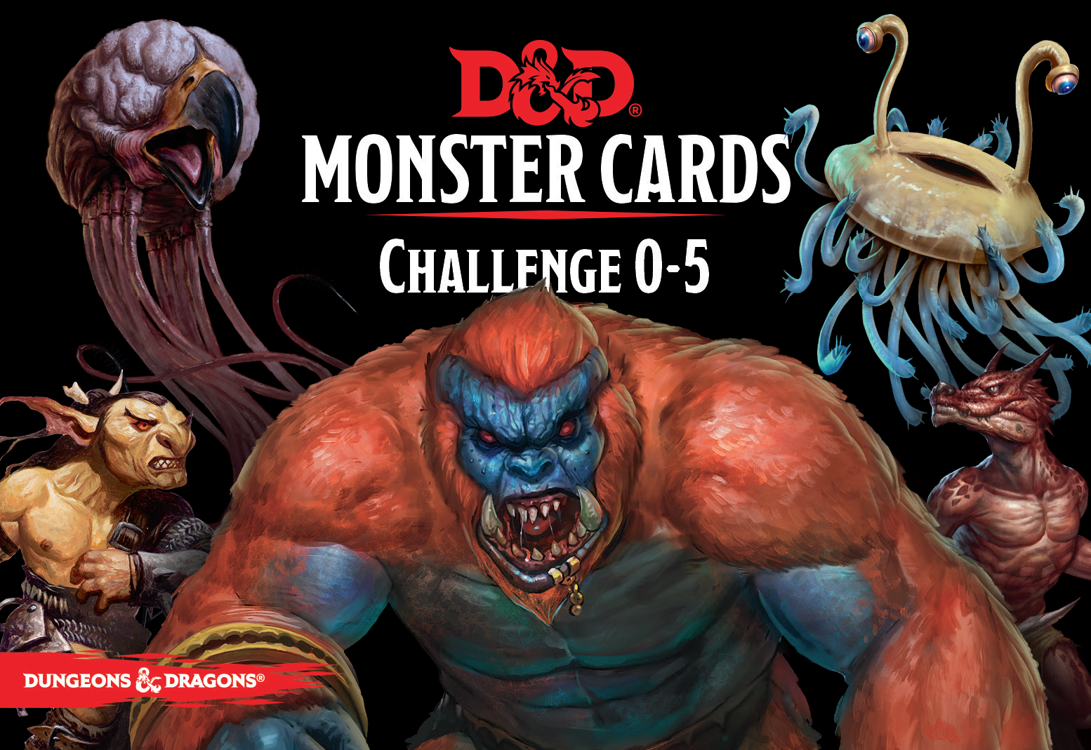 Dungeons & Dragons: Monster Cards CR 0-5 | Dragons Den Cards & Games