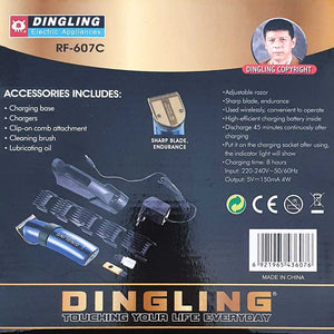 Original Dingling RF-607C Metallic Blue Trimmer