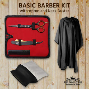 Basic Barber Kit with Apron & Neck Duster