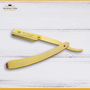 Full Gold Straight Razor