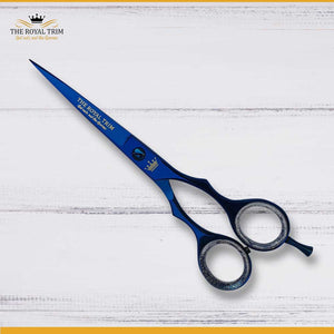 Plasma Coated Metallic Blue Barber Scissor