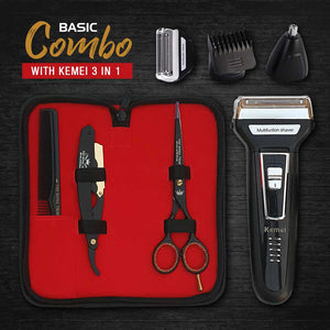 Basic Combo with Kemei 3 in 1 Trimmer