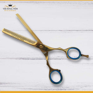 Plasma Coated Full Gold Thinning Scissor