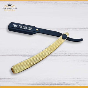 Half Gold & Half Black Straight Razor