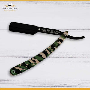 Camo and Matte Black Straight Razor
