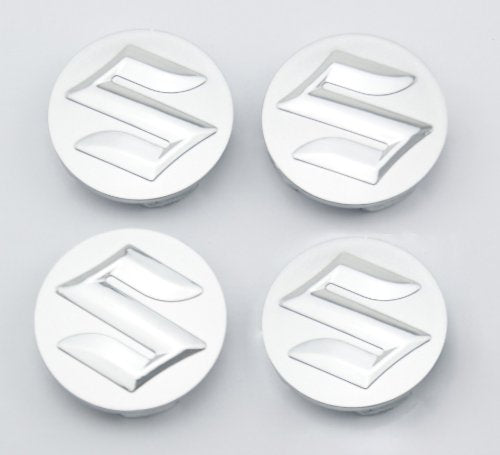 Car-Emall Suzuki 54mm Outer Diameter Silver Wheel Center Hub Caps Cover 4-pc Set Special Offer - LeoForward Australia