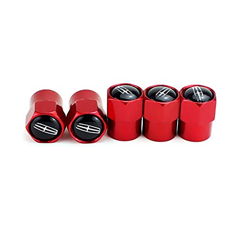 [AUSTRALIA] - TK-KLZ 5Pcs Metal Car Wheel Tire Valve Stem Caps for Lincoln Navigator TownCar Continental MKZ MKX MKC Decorative Accessories